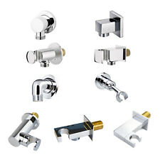 SQUARE ROUND BRASS WALL MOUNTED UNION OUTLET ELBOW BRACKET SHOWER HANDSET HOLDER
