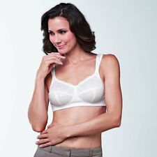 NEW AMOENA CARMEN  WHITE MASTECTOMY BRA UNDERWIRED 0700 PROSTHESIS POCKET BNWT