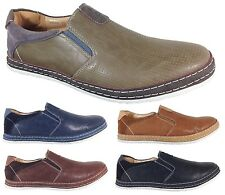 Men Brixton New Leather Driving Casual Shoes Moccasins Slip On Loafers pyne