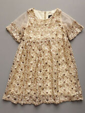Laundry by Shelli Segal Sparkling Gold Sequin Girls Dress Party Size 6 $70 NWT