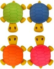 Novelty Cute 3D Turtle Erasers Pencils Rubbers Party Bag Filler Accessories Toy