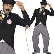 1920s Mens Classic Charlie Chaplin Fancy Dress Costume - Male Film Outfit
