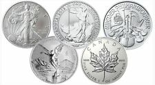 SIlver 1 oz Austrian Philharmonic, Maple Leaf, Canadian Wildlife and many more.