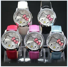 2014! New lovely hellokitty Girls Ladies Wrist Watch Quartz Fashion Gift Nice