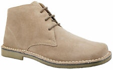 Mens New Light Brown 3 Eyelet Lace Up Desert Ankle Fashion Boots Free UK Postage