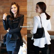 New Women's Lady Stylish Suit Blazer Swallow Tail Power Shoulder Coat Jacket