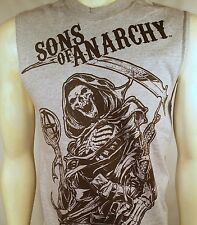 AUTHENTIC SONS OF ANARCHY CHARMING '67 GRIM REAPER SOA MUSCLE BIKER SHIRT S-2XL