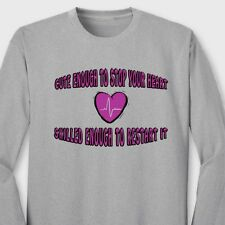 RN NURSE Heart Scrubs Funny Unisex T-shirt Sexy Medical Love Long Sleeve Tee