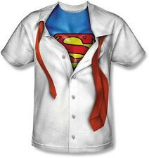 AUTHENTIC I'M SUPERMAN SUBLIMATION MOVIE COSTUME MENS POLYESTER T SHIRT S-3XL