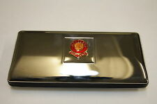 High polished chrome football club glasses case, clubs A-O (2213FC)