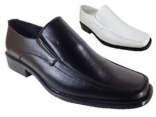 Men Classic Dress Shoes Wedding Prom Black White Slip On Loafer Kim