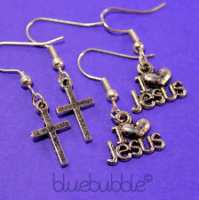 FUNKY RELIGIOUS CHARM GIRLS EARRINGS CUTE CHRISTIAN SPIRITUAL FAITH BELIEF GIFT