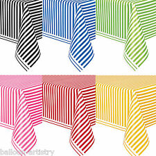 """54""""x108"""" STRIPES Striped Party Supplies Disposable Plastic Table Covers"""
