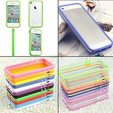 Multi Color TPU Frame Case Side Cover Skin Bumper With Buttons For iPhone 5G 5th