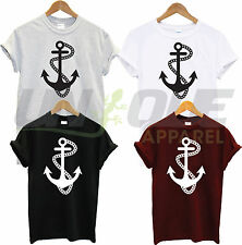 Ancla Marinero T Camisa Moda Cruz Top Tee Náutica Camiseta Retro Tattoo De Regalo