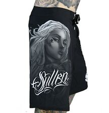 SPRING '14 SULLEN COLLECTIVE MEN'S BOARD SHORTS SWIM BATHING SUIT TRUNKS TATTOO