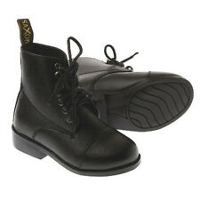 Saxon Ladies Equileather Lace Paddock Boots - black