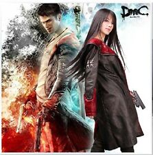Devil May Cry DMC 5 Leather Coat Jacket Dante Game Costume Cosplay Custom Made