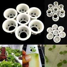 "1.5"" HYDROPONIC AEROPONIC MESH NET POT BASKET CUP SPONGE PLANT GROW KIT REUSABLE"