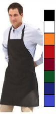 100 NEW SPUN POLY CRAFT / COMMERCIAL RESTAURANT KITCHEN BIB APRONS