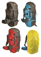 Highlander Travel Rucksack Hiking Backpack Back Pack Bag 45 65 85 Litre + Cover