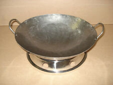 """Commercial 12"""" Handmade Carbon Steel Wok with optional Base"""