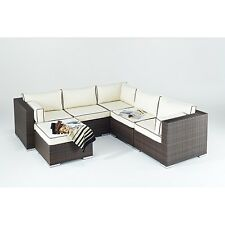 Rattan Corner Sofa Furniture Set for Garden Patio Conservatory Living (New)