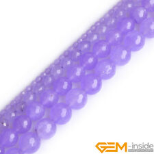 Faceted Round Purple Jade Jewelry Making Loose Gemstone beads strand 15""