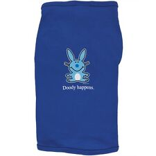 Happy Bunny - Doody Happens Doggy Adult Mens T-Shirt
