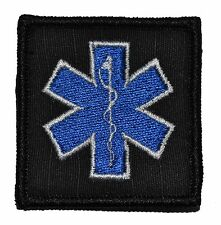 """Star of Life EMT - 2""""x2"""" Military Morale Funny Velcro Patch - Multiple Colors"""