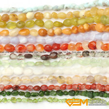 """6x8mm Assorted Stones Freeform Nugget Loose Beads For Jewelry Making In Bulk 15"""""""