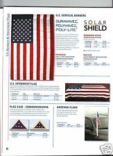 U.S. VERTICAL BANNER FLAG, U.S. INTERMENT FLAG, CAR ANTENNA FLAG (NEW)