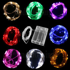 3M 4.5V 30 LED Battery Operated Silver Wire Mini Fairy Light String Multi-Color