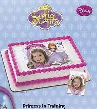 SOFIA THE FIRST - PRINCESS IN TRAINING EDIBLE IMAGE FRAME CAKE DECORATION! CUTE!