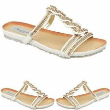 Women Flat Sandals Girls Fancy Party Wedding Bridal Beach Shoes Size 5-10