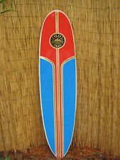 Tropical Decorative Wooden Surfboard Wall Art for a Tiki Beach Home Decor
