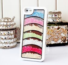 Bling Crystal Diamonds Colorful Rainbow Cases Covers For iPhone5 5S 4 4S 45SC
