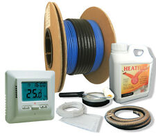 Electric Underfloor Heating Cable Kit Including Thermostat