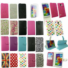 Flip Wallet Case Cover for Various Samsung Galaxy Models & Screen Protector