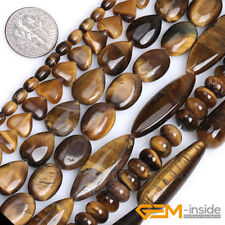 Wholesale Natural Assorted Shapes Tiger's Eye Gemstone Beads For Jewelry Making