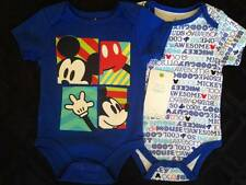 Baby Boy Clothes : BEST BUDS Blue Mickey Mouse Boy Baby Bodysuits 2 Pc Set