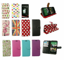 Flip Wallet Case Cover for Various HTC Models & Screen Protector