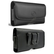 Leather Belt Clip Case Holster for Cell Phones COMPATIBLE WITH Otterbox Symmetry