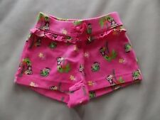 NWT Girl's Gymboree Wild For Zebra monkey pink elastic shorts 6 12 18 months 2T