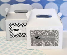 24 Personalized Graduation Class of 2014 Gable Box Party Favor Container
