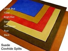 3-5oz COWHIDE SUEDE for Garments & Crafts 4x6 to 8x11 Square Foot Leather