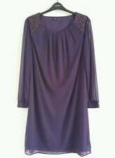 NEW ANYA MADSEN @ M&Co Plus Size 18-28 Embellished Beaded Midi Shift Dress Tunic
