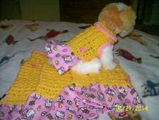 "Dog Apparel BUTTERCUP YELLOW Dress with ""BABY HELLO KITTY"" Skirt"