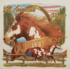 """ALL AMERICAN OUTFITTERS PAINT """"RUN LIKE THE WIND"""" WESTERN HORSE SHIRT #1837"""