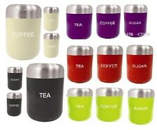 3Pcs Tea Coffee Sugar Jar Set Air Tight Containers Canisters Set Kitchen Storage